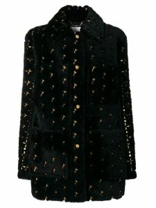Chloé embroiled loose coat - Black