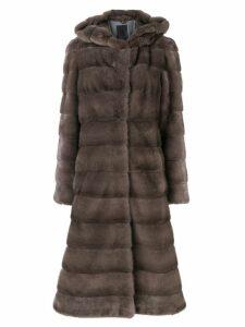 Liska Valencia fur coat - Grey