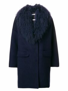 P.A.R.O.S.H. oversized midi coat - Blue