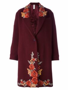 Antonio Marras embroidered single breasted coat