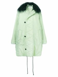 Mm6 Maison Margiela shearling collar oversized coat - Green