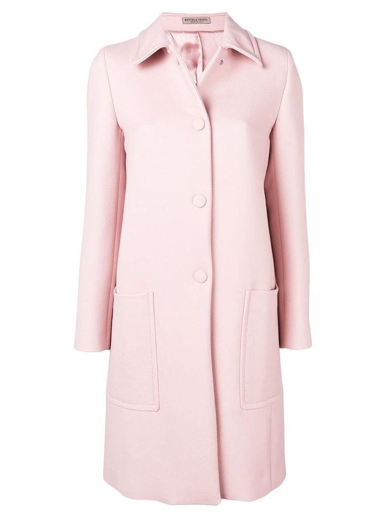Bottega Veneta single-breasted coat - Pink
