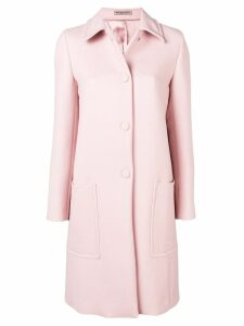 Bottega Veneta single-breasted coat - Pink