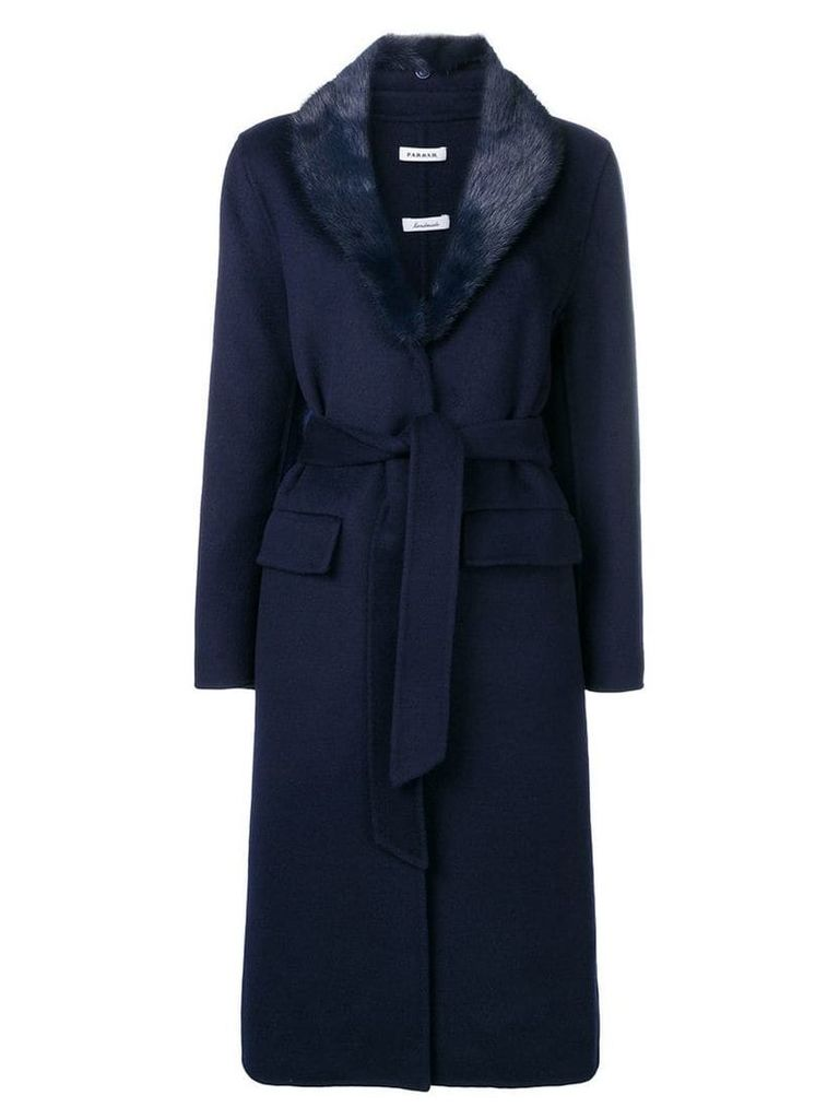 P.A.R.O.S.H. Lover belted coat - Blue