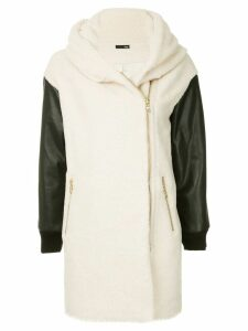 Frei Ea shawl collar coat - White