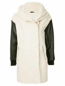 Frei Ea shawl collar coat - White