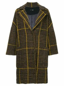 Frei Ea checked single breasted coat - Brown