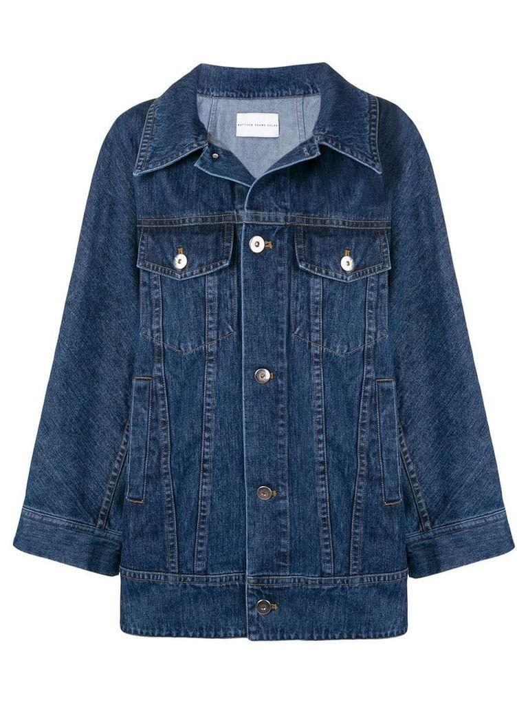 Matthew Adams Dolan oversized denim jacket - Blue
