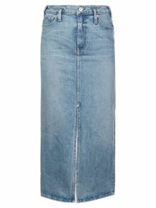 Proenza Schouler PSWL Straight Denim Skirt - Yellow