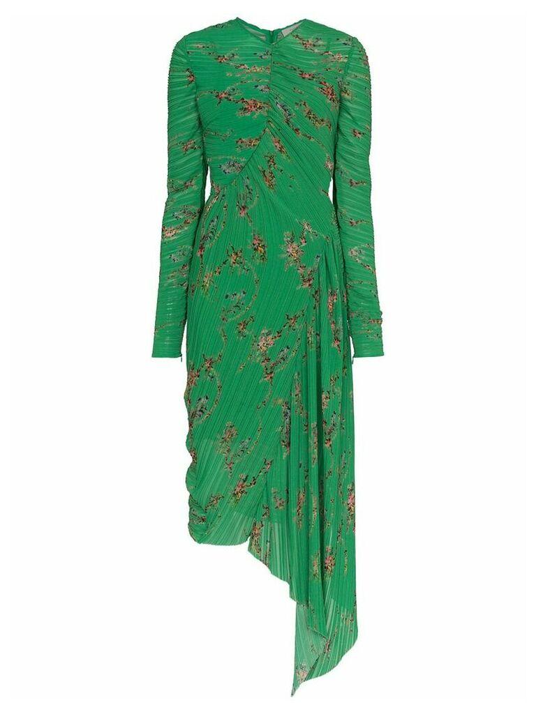 Preen By Thornton Bregazzi Teresa micro pleat floral print dress -