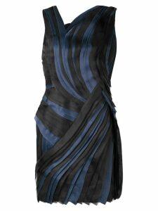 Lanvin pleated asymmetric mini dress - Black