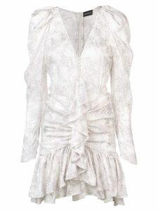 Magda Butrym long-sleeve flared dress - White