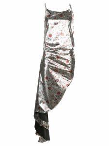 Marques'Almeida floral print asymmetric dress - Silver