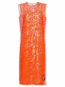 Prada sequin shift dress - Orange