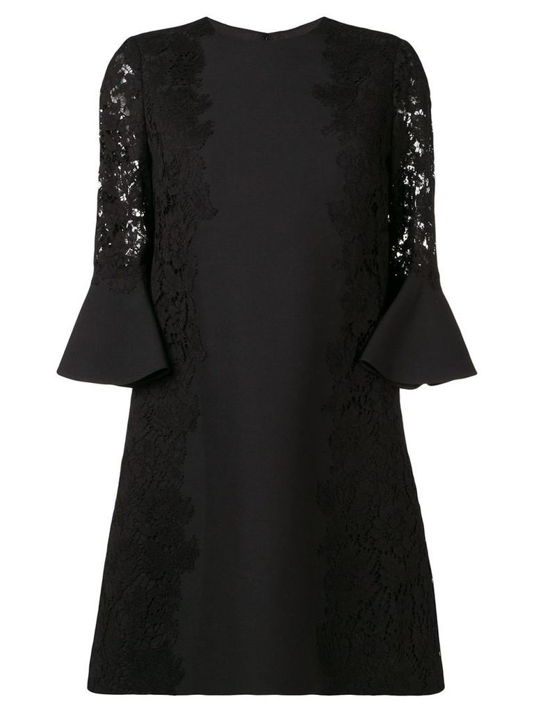 Valentino heavy lace dress - Black