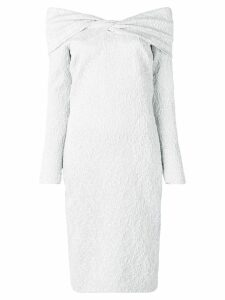Oscar de la Renta textured cocktail dress - Silver