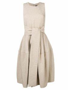 Samantha Sung sleeveless flared midi dress - Neutrals