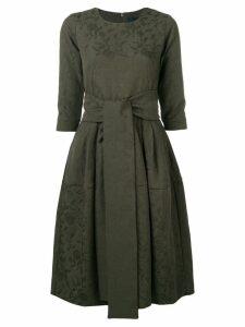 Samantha Sung waist-tied flared midi dress - Green