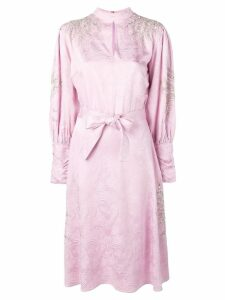 Dodo Bar Or long-sleeve flared dress - Pink