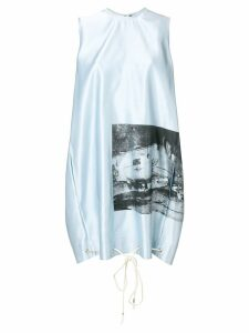 Calvin Klein 205W39nyc x Andy Warhol Foundation car crash dress - Blue