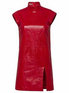 Miu Miu leather mini dress - Red