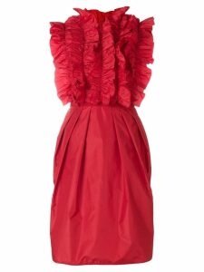 Giambattista Valli ruffled front dress - Red