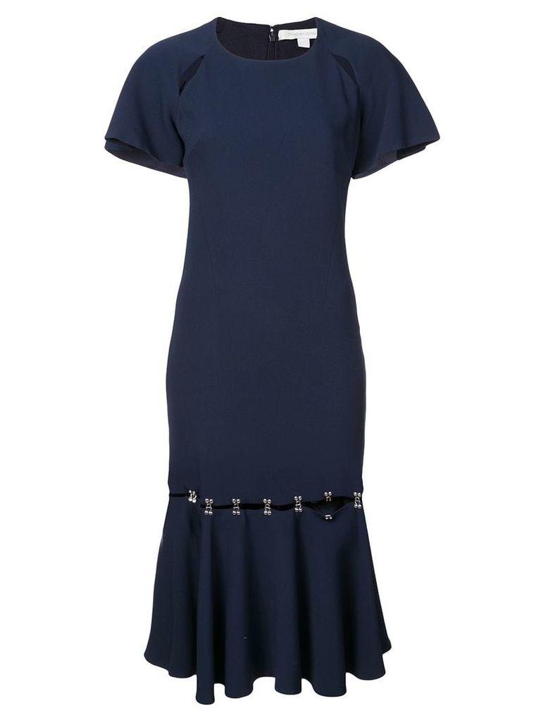Jonathan Simkhai hook and eye crepe dress - Blue