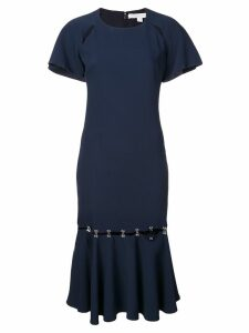 Jonathan Simkhai hook and eye crepe dress - Blue
