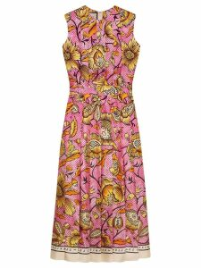 Gucci floral print pleated dress - Pink