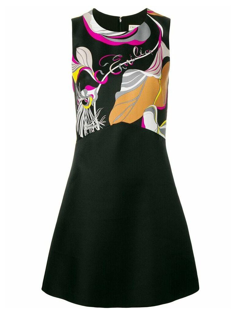 Emilio Pucci Frida Print Mini Dress - Black