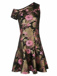 Josie Natori jacquard mini dress - Black