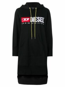 Diesel logo hoodie dress - Black