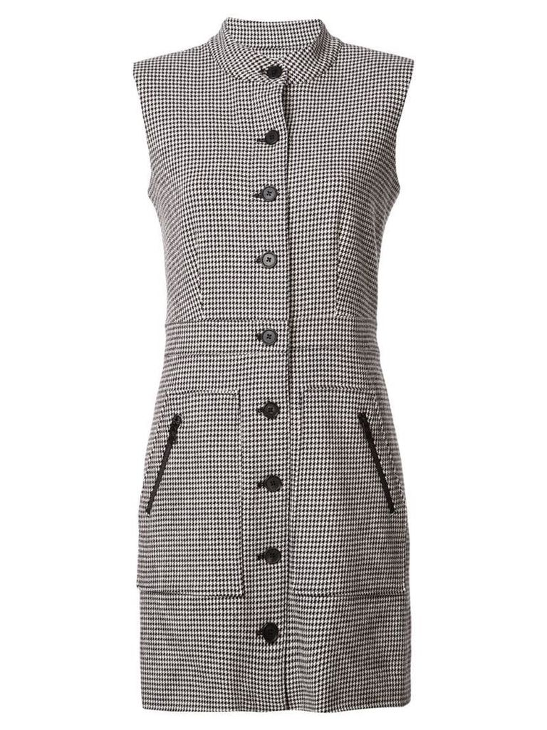 Veronica Beard sleeveless houndstooth dress - Black