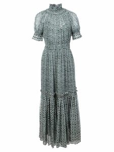 Proenza Schouler Crepe Chiffon Tiered Dress - Black