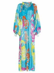 All Things Mochi Fafia tie neck maxi dress - Blue