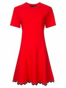 Proenza Schouler Zig Zag Knit Dress - Red