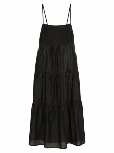 Matteau the long tiered cotton sundress - Black