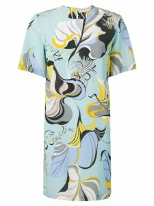 Emilio Pucci Frida Print Silk Dress - Blue