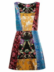 Alice+Olivia patchwork sleeveless dress - Multicolour