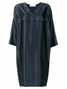 Gianluca Capannolo V-neck loose fit dress - Blue