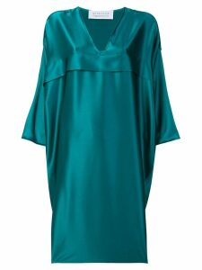Gianluca Capannolo satin V-neck dress - Blue