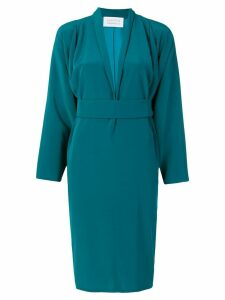 Gianluca Capannolo belted waist dress - Blue