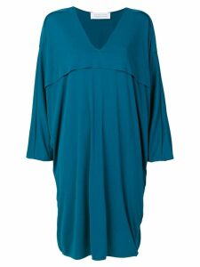 Gianluca Capannolo V-neck flared dress - Blue