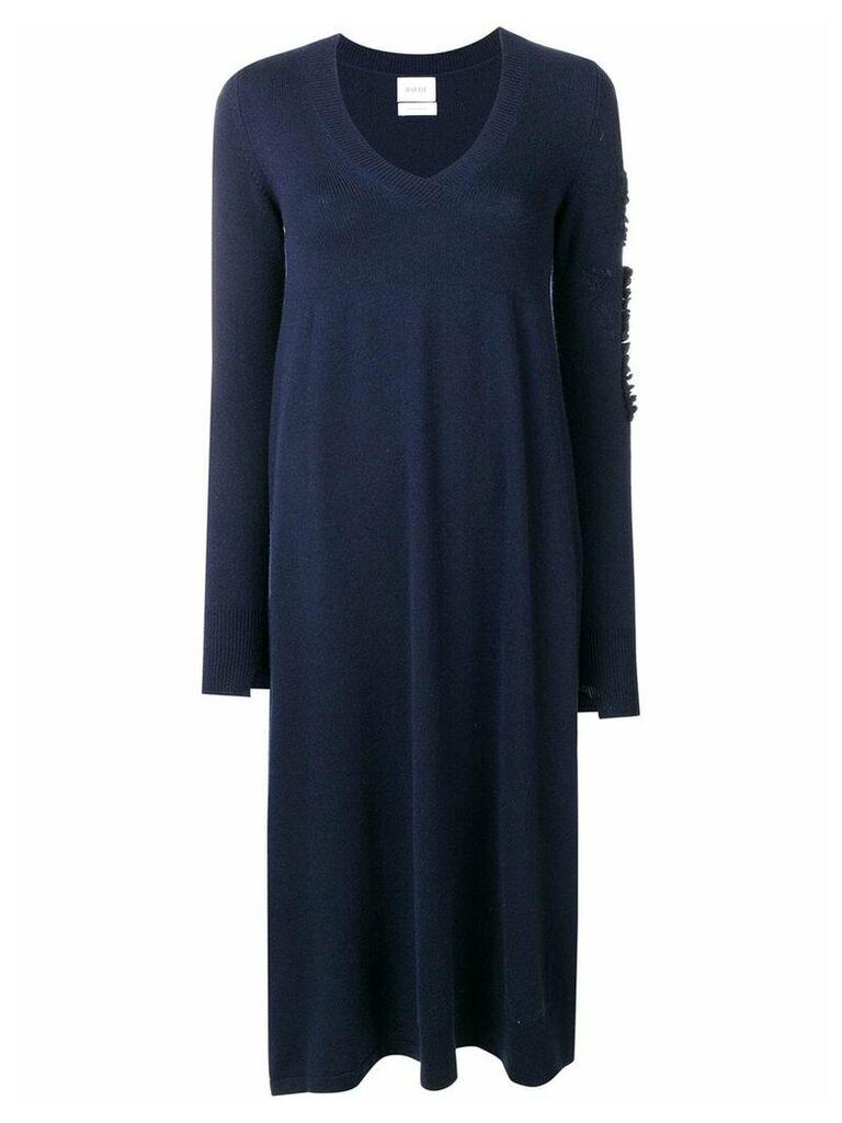 Barrie flared V-neck dress - Blue