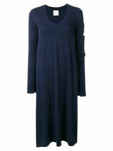 Barrie flared V-neck dress - Blue