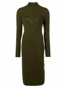 Barrie chevron effect dress - Green