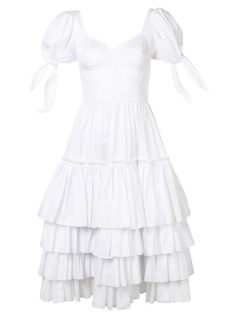 Dolce & Gabbana ruffled poplin dress - White