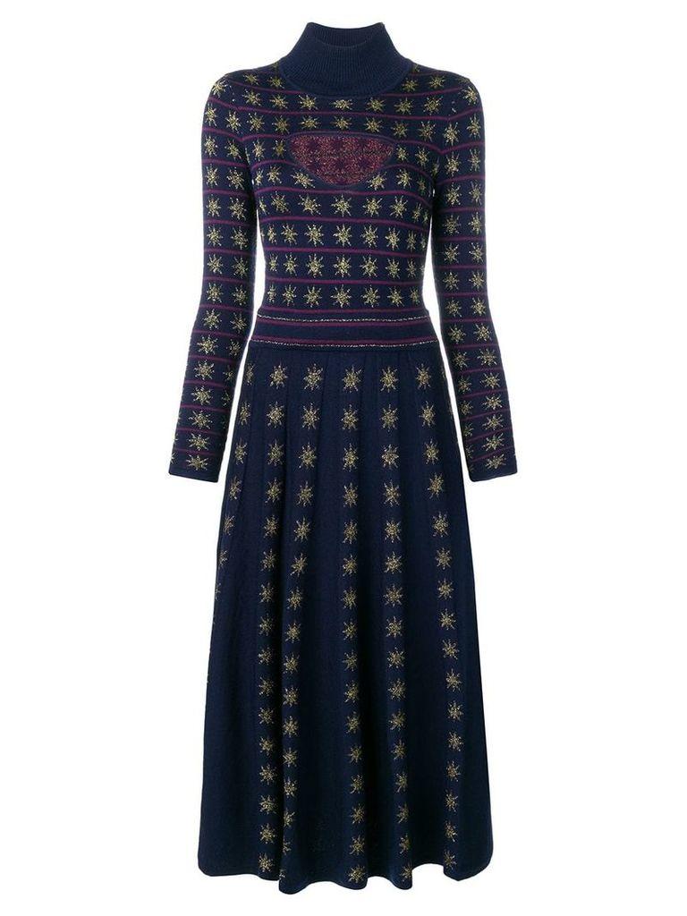 Temperley London Night knitted dress - Blue