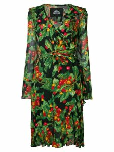 Marc Jacobs cherries print wrap dress - Green