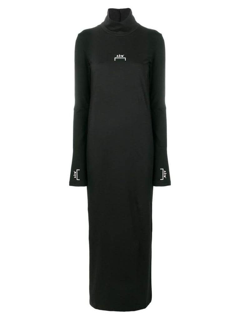 A-Cold-Wall* logo printed long dress - Black